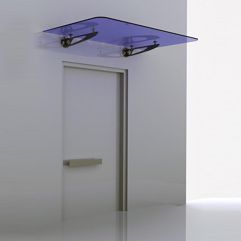 Trio Shaped Wall Mounted Canopy Fitting With Glass On Top