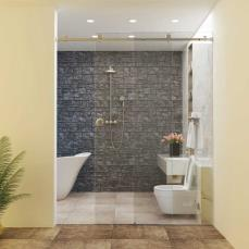 Shower Cubicles and Internal Doors Set