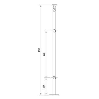 Standard Railing,OZRST-77-DGH,