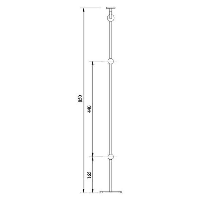 Standard Railing,OZRST-55-DGH,