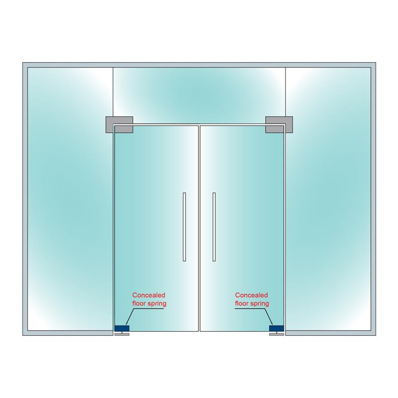 Hydraulic Bottom Patch For Glass Doors Ocfh 100